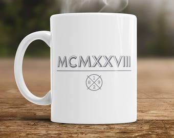 90th Birthday, 1928 Roman Numerals, 90th Birthday Gift, 90th Birthday Idea, Vintage, Happy Birthday, 90th Birthday Present for 90 year old!