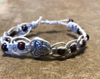 Celtic Knot Hemp Knotted Adjustable Bracelet
