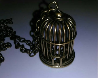 Bronze Birdcage Necklace
