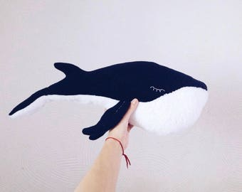 Whale stuffed animal / plush toy