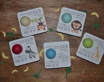 10 Safari EOS favors, Safari Baby Shower, EOS favor holders, Baby shower favor