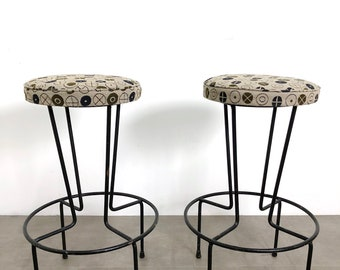 Pair Frederic Weinberg Bar or Counter Stools, 1950's