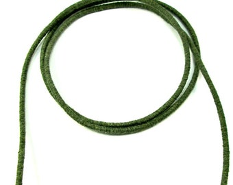 Cotton rope for crafting, cotton rope for crafts, cotton fiber cord, colored cotton rope, 3.5mm cord, wrapped cotton rope, khaki rope, 1m