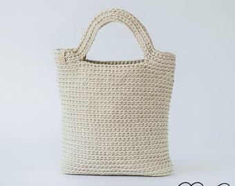 Handmade Bag, Crochet Handbag, Crochet White Shoulder Bag, Handmade Spring Handbag, Summer Bag, Vanilla Handbag, Summer Fashion Handbag
