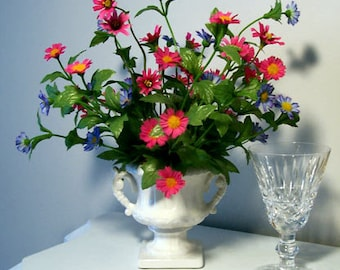 Spring Flowers in Small Urn