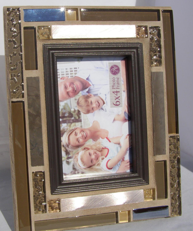 Cristal cobre 4 x 6 foto marco mosaico foto Varonil masculino ...