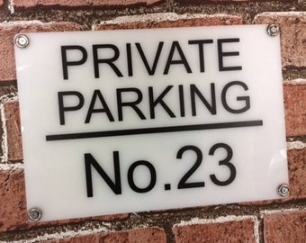 Personalised Private / reserved Parking sign - weatherproof - 250mm x 170mm