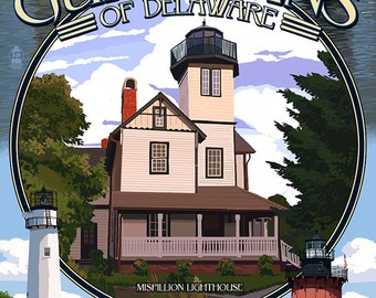 Lighthouses of Delaware - Montage (Art Prints available in multiple sizes)
