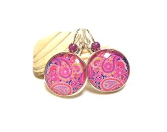 Pink Paisley earrings