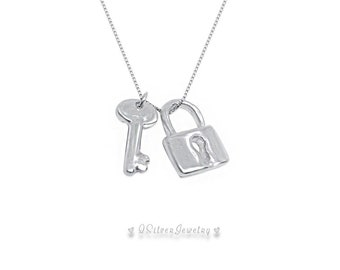 I'm Yours Lock and Key Necklace Sterling Silver Jewelry - Christmas Birthday Wedding Anniversary gift