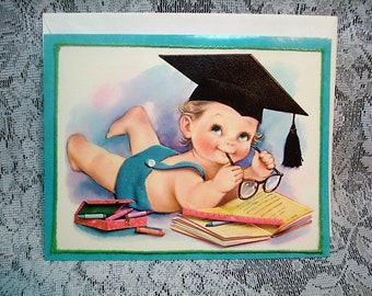 Vintage Lg Embossed Birthday Card Guy's & Gal's Collection 1960's #S15