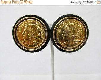 On Sale Retro Chunky Golden Coin Earrings Item K # 822
