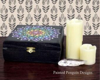 Jewel Drop Mandala Keepsake Box
