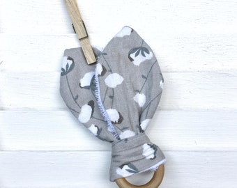 Cotton Stem Bunny Ear Teether