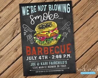 Barbecue Invitation, Charcoal Grill Invitation, BBQ Party, BBQ Invitation, Barbecue Party, Printable Party Invitation