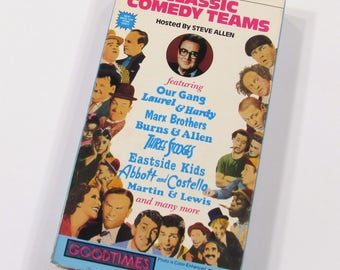 Classic Comedy Teams Hosted by Steve Allen, VHS Video Cassette