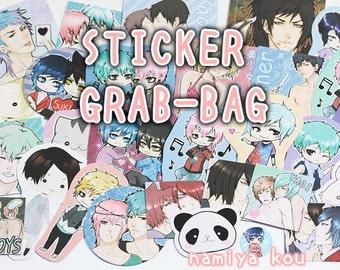 STICKER Grab Bag! Super cute Manga & Anime Art Stickers! Original Art Catboys Yaoi Chibis Kawaii~