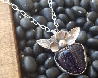 Goldstone Bloom Necklace
