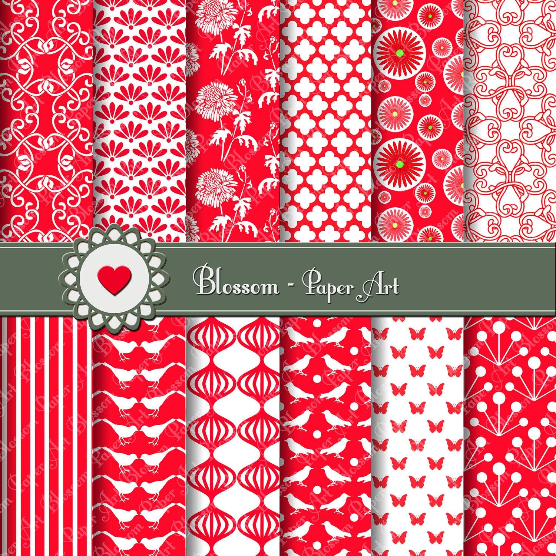 Papeles digitales en rojo papeles decorativos en rojo for Fotos de papel decorativo