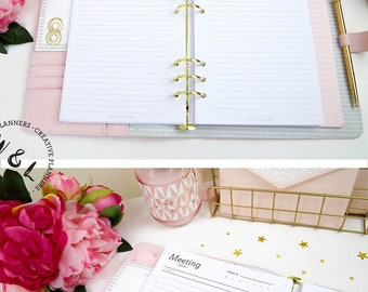 Printed A5 Meeting Notes Inserts, Work Planner, Business Planner, Task Tracker, A5 Planner inserts, Planner Refill,  Student Planner