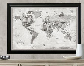 World travel map etsy more colors world travel map gumiabroncs Gallery
