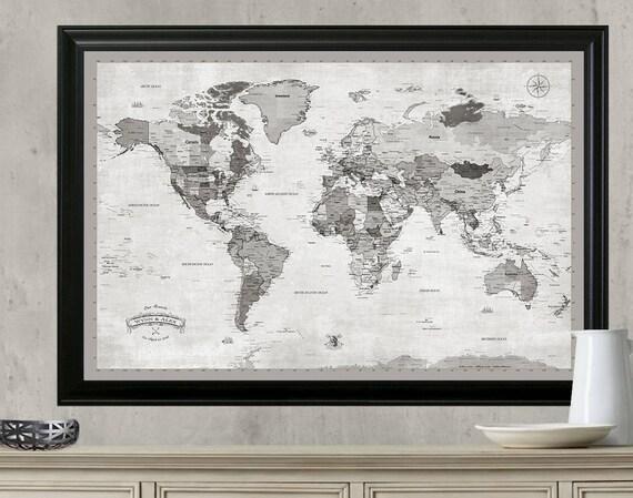 World travel map push pin travel mapamed or hanging travel te gusta este artculo gumiabroncs Gallery