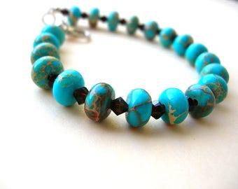 Turquoise Jasper Bracelet - Gemstone Bracelet