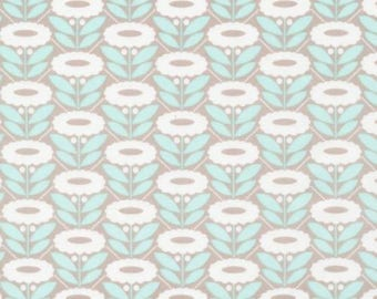 Lazy Daisy Turquoise - Organic Cotton Poplin - Morning Song Collection (5208.52.00.90)