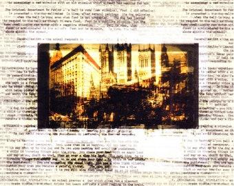 Dark art print Surreal Collage artwork Contemporary Fine art Giclee Surrealist Surrealism Lowbrow | Lost-cause Factory