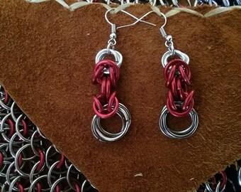 Red Byzantine Earrings
