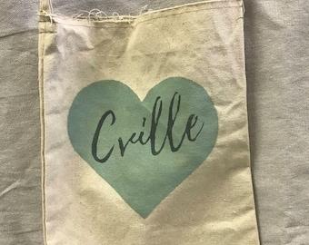 Cville Heart Cross Body Tote