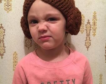 Kids Princess Leia Beanie