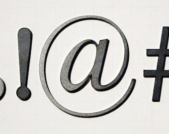 "Classic 2"" Symbols | Laser Cut Metal Letters"