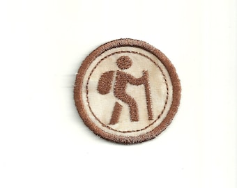 """2"""" Hiking Merit Badge, Patch! Any Color combo! Custom Made!"""