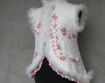 """Eco Felted vest """"Dushegreya"""""""