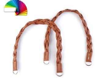 2 Braided Purse Bag Handle length 47-50 cm