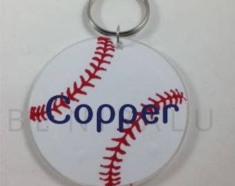 Baseball Keychain | Personalized Baseball Keychain | Baseball Gifts | Baseball Team Gifts | Baseball Coach Gift | Baseball Bag Tag