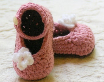 Crochet PATTERN for baby booties the My Oh My Mary Janes Slippers - Instant  PDF file Download - pattern number 100 L