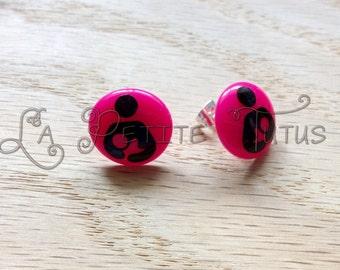 nursing earrings earrings, mommy, mom, newborn, infant, baby, jewelry, post earrings, stud earrings, nickel free, vinyl, vinyl decal