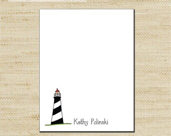 Mothers Day Gift, Teacher Appreciation Gift, Custom Notepad, Personalized Notepads, Notepad, Note Sheets with Lighthouse