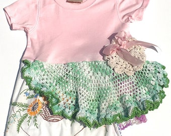 Hankie Babies vintage hankie shirt -- Matilda style Made to Order Wholesale Avail
