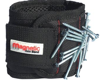 Father's Day Gift Magnetic Wristband - 10 Strong Magnets embedded throughout wristband for holding nails, screws, washers, and much more.