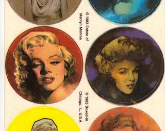 Rare Vintage Boxed In Marilyn Monroe Sticker Sheet - Retro Screen Siren Pin Up Actress 60's Film Bombshell Scrapbook