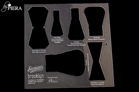 BUNDLE TEMPLATE, bag connectors, swoon patterns, acrylic template, laser engraving, bagmaking connectors