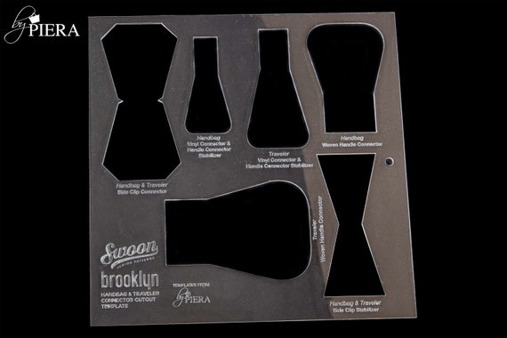 SINGLE TEMPLATE, bag connectors, swoon patterns, acrylic template, laser engraving, bagmaking connectors