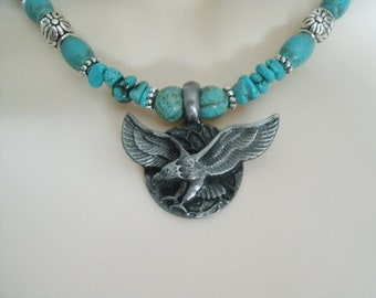 Turquoise Necklace, southwestern jewelry southwest jewelry turquoise jewelry native american jewelry theme country western eagle necklace