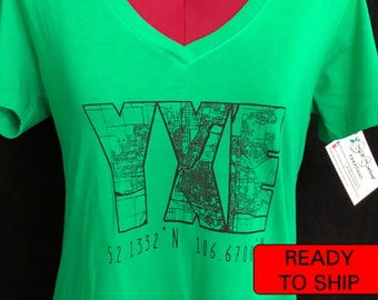 YXE Ladies T-shirt (Saskatoon) -- READY MADE