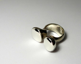 Double Bump Sculpted Ring