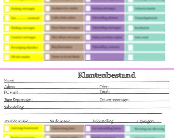 Checklist for Photographer (editable in Indesign)