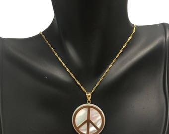 14k Peace necklace